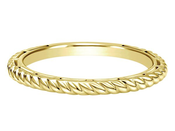 Yellow Gold Twisted Band by Gabriel & Co