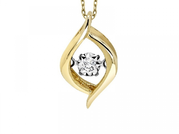 Yellow Gold Rhythm of Love Diamond Necklace by Gems One