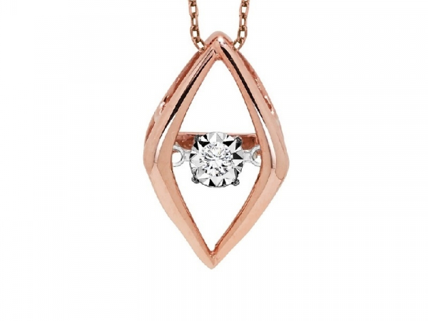 Rose Gold Rhythm of Love Necklace by Gems One