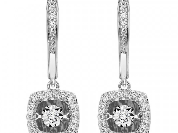White Gold Rhythm of Love Diamond Earrings by Gems One