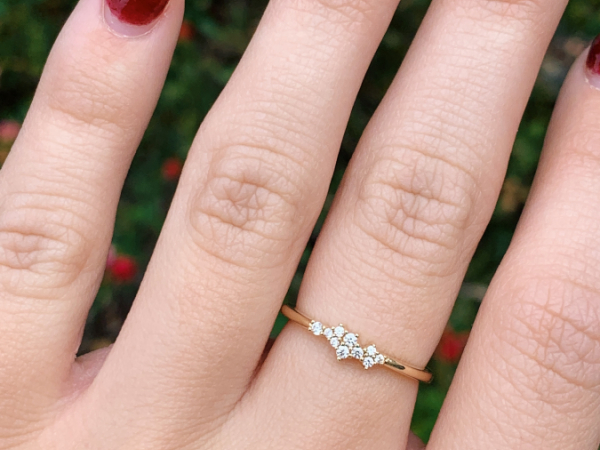10K Yellow Gold Moissanite Stacking Ring by Stuller