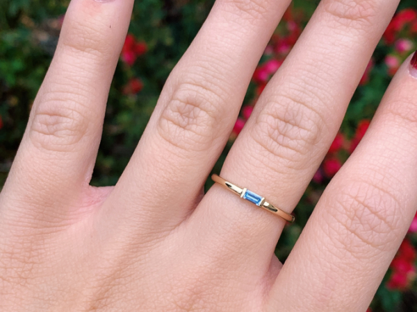 10K Yellow Gold Aquamarine Stacking Ring by Stuller