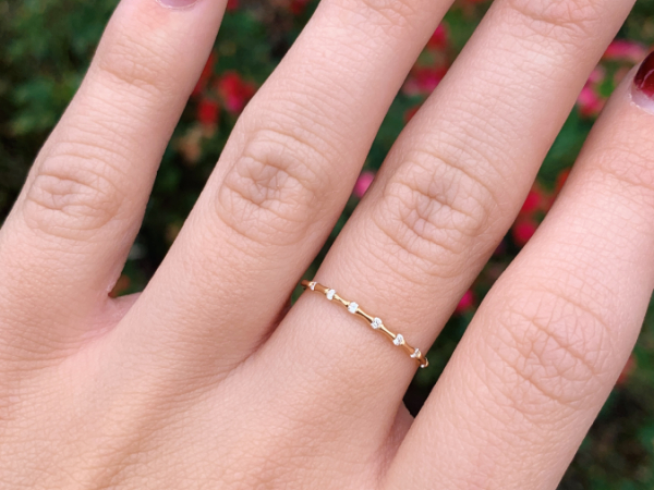 14K Yellow Gold 0.06 CT Diamond Stacking Ring by Stuller