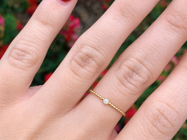 14K Yellow Gold 0.03 CT Diamond Stacking Ring by Stuller