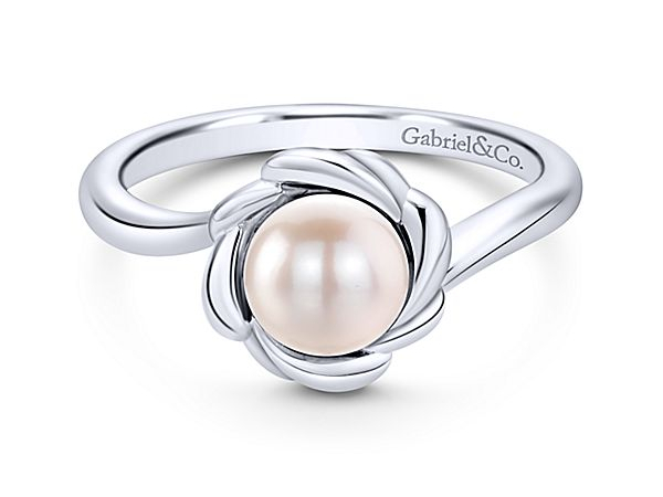 Sterling Silver Pearl Ring by Gabriel & Co