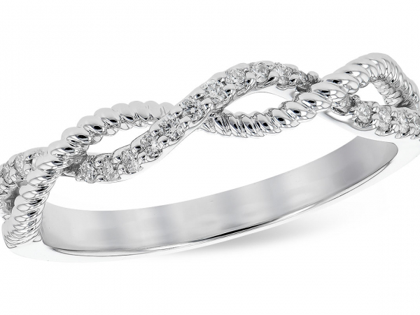 14k Infinity Diamond Band by Allison Kaufman