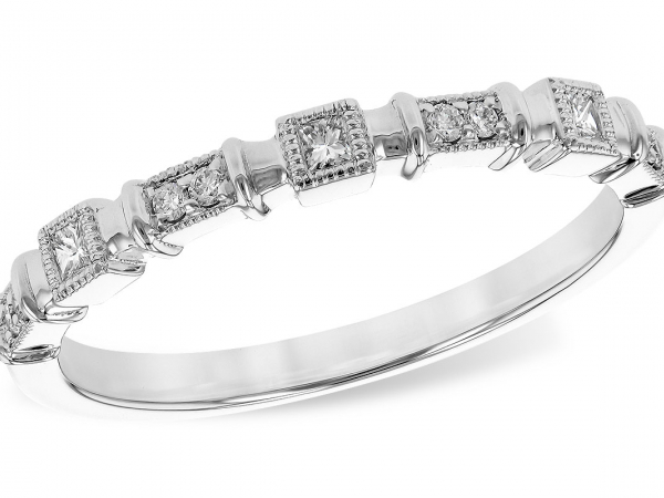 14k Stackable Diamond Band by Allison Kaufman